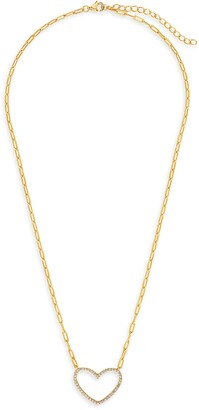 Sterling Forever Open Heart Pendant Necklace