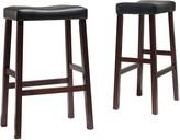 Crosley Furniture 2-piece Saddle Seat Bar Stool Set