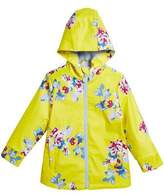 Joules Raindance Floral Hooded Raincoat, Size 3-10