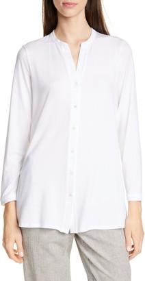 Eileen Fisher Mandarin Collar Tunic