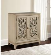 Pulaski Furniture Tan Mirrored Storage Cabinet