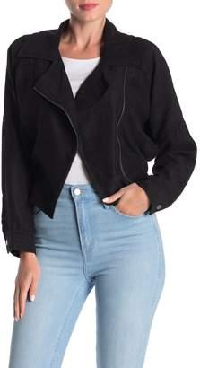 FAVLUX Asymmetrical Side Zip Moto Jacket