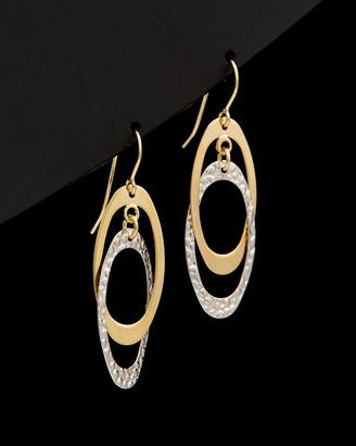 Italian Gold Fremada 14K Two-Tone Double Oval Dangle Earrings