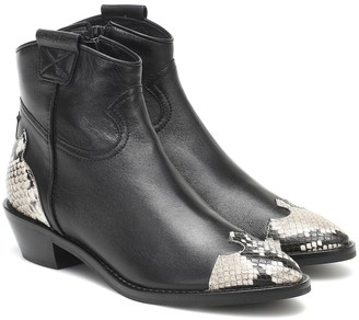 See by Chloe Western leather ankle boots