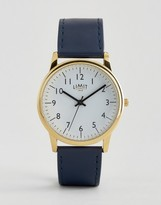 Limit Watch In Navy With Gold Dial Exclusive To ASOS