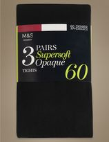 Marks and Spencer 3 Pair Pack 60 Denier Supersoft Opaque Tights