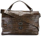 Zanellato textured flap closure tote bag