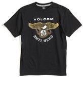 Volcom 'Anti Hero' Graphic T-Shirt (Big Boys)