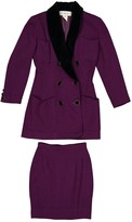 Karl Lagerfeld Paris Purple Wool Jacket for Women Vintage