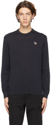 Paul Smith Navy Zebra Logo Sweater