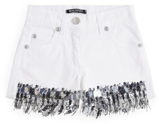 Balmain Kids Sequin Detail Shorts