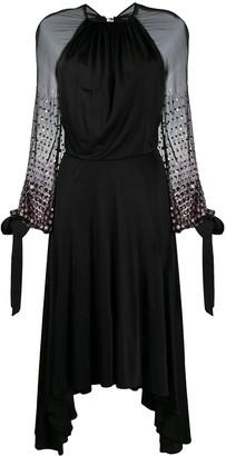 Lanvin Open Back Embellished Dress