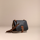 Burberry Canvas Check and Leather Crossbody Bag