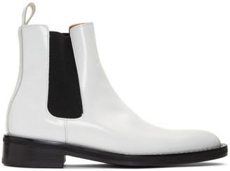 Ami Alexandre Mattiussi White Spazzo Chelsea Boots