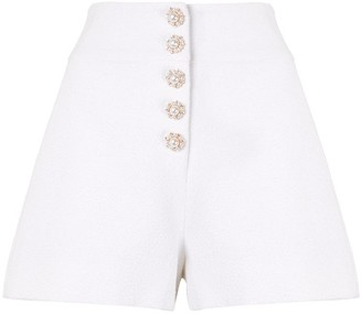 Edward Achour Paris High Rise Woven Shorts