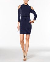 Jessica Simpson Cold-Shoulder Sheath Dress