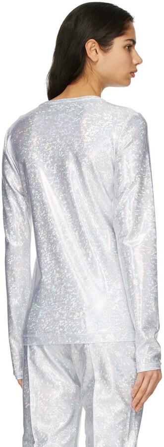 Thumbnail for your product : Saks Potts Silver Shimmer Saya Long Sleeve T-Shirt
