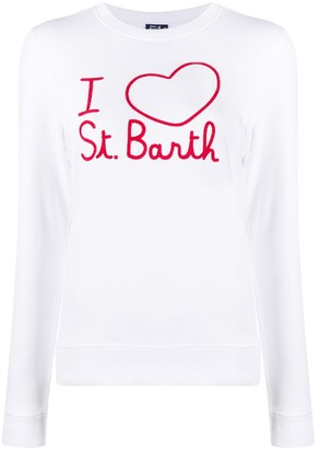 MC2 Saint Barth Embroidered Long-Sleeved Top