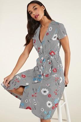 Yumi Stripe Floral Shirt Dress