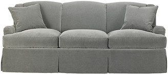 Mr & Mrs Howard Skirted Lounge Sofa - Slate Velvet
