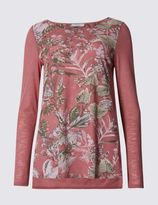 Marks and Spencer Enchanted Floral Print Jersey Top