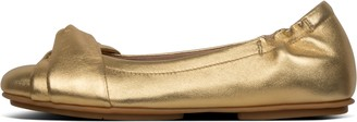 FitFlop Twiss Metallic Leather Ballet Flats