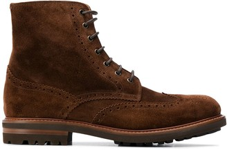 Brunello Cucinelli Ankle Length Lace-Up Boots