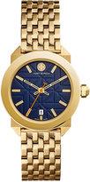 Tory Burch Women's Swiss Whitney Classic Gold-Tone Stainless Steel Bracelet Watch 35mm TRB8003