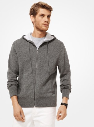 Michael Kors Cashmere-Blend Zip-Up Hoodie