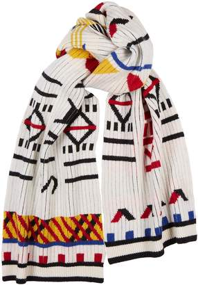 Kenzo Peruvian Intarsia Wool-blend Scarf