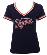 5th & Ocean Women's Detroit Tigers Contrast Binding T-Shirt