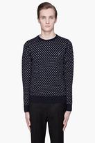 J. Lindeberg Dark blue Vern Dotted Cotton sweater