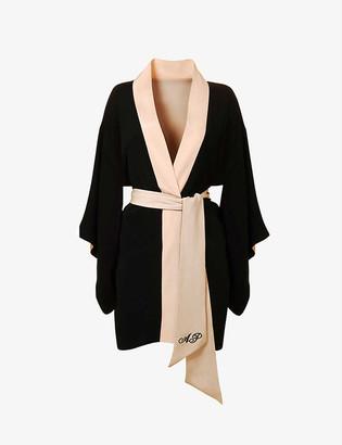 Agent Provocateur Kiki logo-embroidered silk kimono