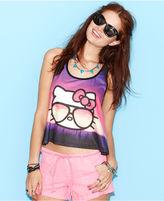 Hello Kitty Juniors Top, Sleeveless Cropped Tank