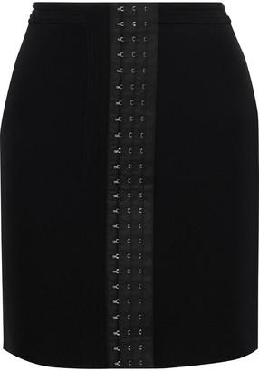 Thierry Mugler Hook-detailed Stretch-twill Mini Skirt