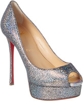 Christian Louboutin Fetish 130 Iridescent Glitter Leather Pump