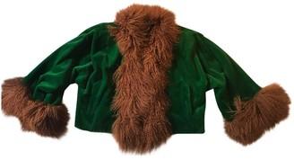 Saint Laurent Green Mink Jacket for Women Vintage