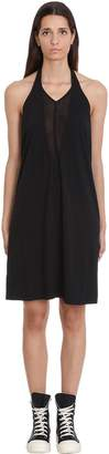 Drkshdw Dbl V Halter Dress In Black Cotton