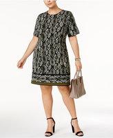 MICHAEL Michael Kors Size Snake-Print Sheath Dress, a Macy's Exclusive Style
