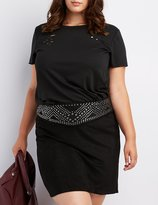 Charlotte Russe Plus Size Destroyed Boyfriend Tee