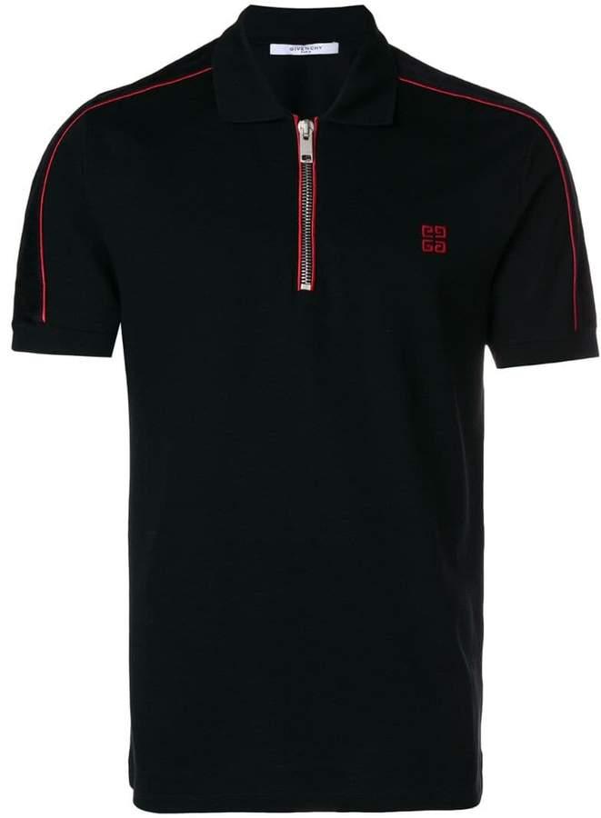 Givenchy zip-up polo shirt