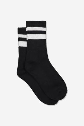 Rubi Sporty Stripe Crew Sock