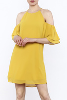 Naked Zebra Mustard Yellow Dress
