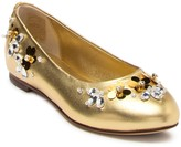 Dolce & Gabbana Embellished Leather Flat (Toddler, Little Kid, & Big Kid)
