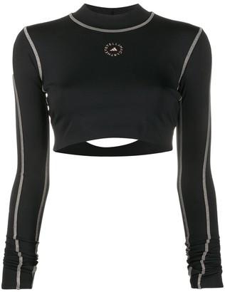 adidas by Stella McCartney Truepace long-sleeve crop top