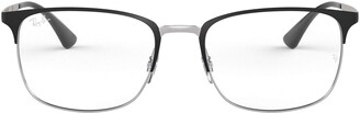 Ray-Ban RX6421 Rectangular Metal Eyeglass Frames