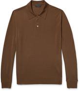 Prada Knitted Virgin Wool Polo Shirt