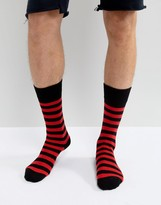 Dr Martens Stripe Socks Red