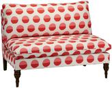 Dot Printed Armless Love Seat