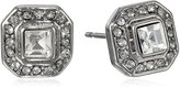 "Carolee Crystal Basics"" Cubic Zirconia Square Stud Earrings"